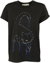 Stella McCartney Embroidered Cat T-Shirt