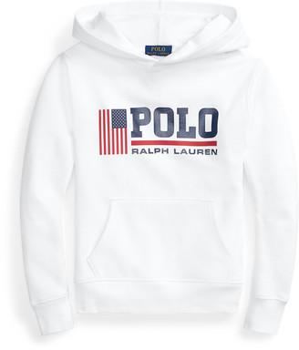 Ralph Lauren Flag Logo Fleece Hoodie
