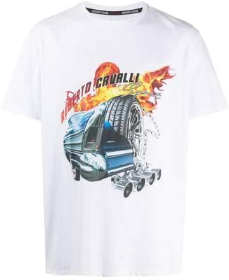 Roberto Cavalli car logo print T-shirt