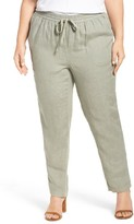 Plus Size Women's Caslon Linen Drawstring Pants
