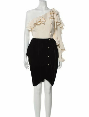 Philosophy di Alberta Ferretti Colorblock Pattern Knee-Length Dress w/ Tags