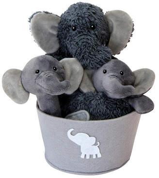 Trend Lab Elephant 4-Piece Plush Baby Gift Set Bucket Bedding