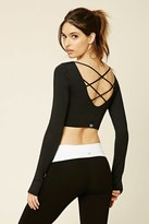 Forever 21 FOREVER 21+ Active Crisscross Crop Top