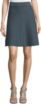 Iris von Arnim Reversible Double-Face Cashmere Skirt, Blue/Gray