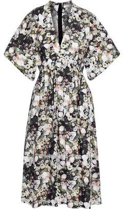 ADAM by Adam Lippes Gathered Floral-print Cotton-poplin Dress