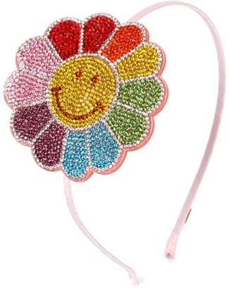 Bari Lynn Girl's Swarovski Crystal Flower Headband