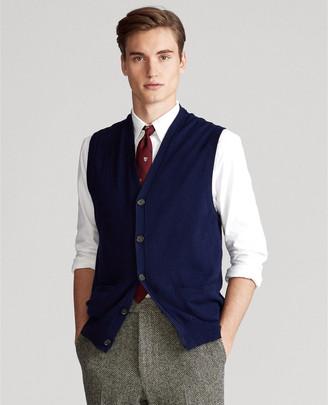 Ralph Lauren Cotton-Cashmere Sweater Vest