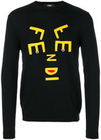 Fendi abstract letter jumper - men - Virgin Wool - 48