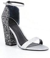 GUESS Bam Bam3 Glitter Block-Heel Dress Sandals