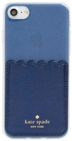 Kate Spade Stick To It Iphone 7/8 Case & Sticker Pocket - Blue