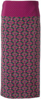 Aspesi geometric print midi skirt - women - Silk - 42