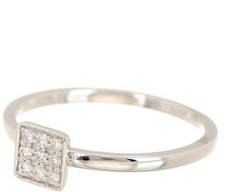 Bony Levy 18K White Gold Diamond Pave Square Ring - 0.10 ctw