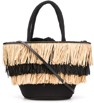 Dorothee Schumacher Mini Scuba straw tote bag