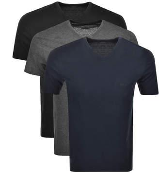 HUGO BOSS Boss Business Triple Pack V Neck T Shirt