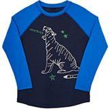 Stella McCartney Men's Tiger-Graphic Long-Sleeve T-Shirt-BLUE