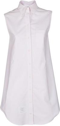 Thom Browne Striped Oxford Sleeveless Shirtdress