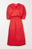 Jason Wu Stretch-cotton Poplin Midi Dress - Red