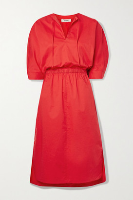 Jason Wu Stretch-cotton Poplin Midi Dress - Red