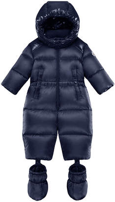 Moncler Pervance Hooded Puffer Snowsuit w/ Removable Booties, Size 6M-3