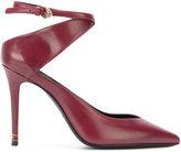 Roberto Cavalli asymmetric strap pumps - women - Leather - 37