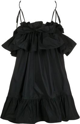 MSGM ruffle-trimmed A-line dress
