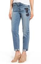 NYDJ Women's Jessica Embroidered Boyfriend Jeans