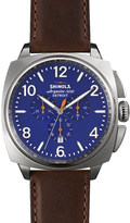 Shinola S0100122 Unisex Brakeman chrono stainless steel and leather-strap watch