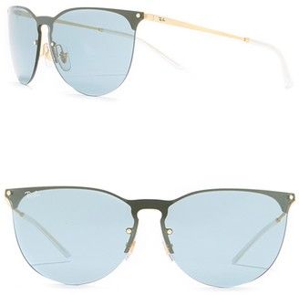 Ray-Ban 41mm Phantos Rubber Aviator Sunglasses