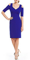 Jessica Howard Cold-Shoulder Sheath Dress