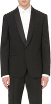 Alexander McQueen Tailored-fit wool and mohair-blend tuxedo jacket