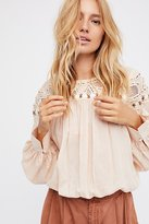 Free People Dream Away Embroidered Top