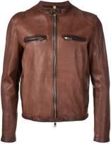 Tagliatore zipped leather jacket