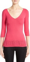 Versace Women's Open Knit Hem Top