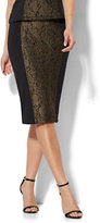 New York & Co. 7th Avenue - Lurex Lace Pencil Skirt - Black - Tall