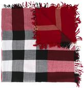 Burberry checked scarf - women - Merino - One Size