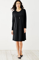 J. Jill Wearever Pleated Empire-Waist Dress