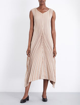 Issey Miyake Soft Leaf silk-blend dress