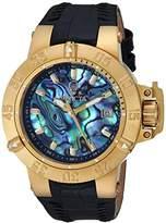 Invicta Women's 'Gabrielle Union' Quartz Gold-Tone and Leather Casual Watch, Color:Black (Model: 23180)