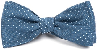 The Tie Bar Whale Blue Mini Dots Bow Tie
