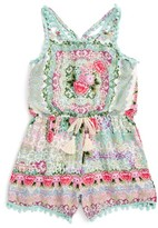Truly Me Toddler Girl's Floral Romper