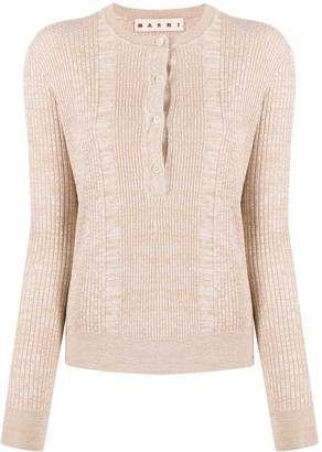 Marni Textured Crew Neck Knitted Top