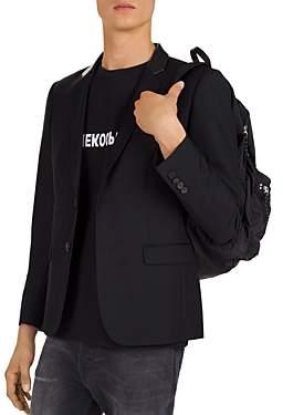 The Kooples Leather-Collar Blazer