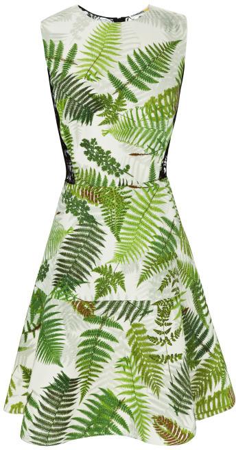 Clements Ribeiro Sandra Fern Print Flip Dress
