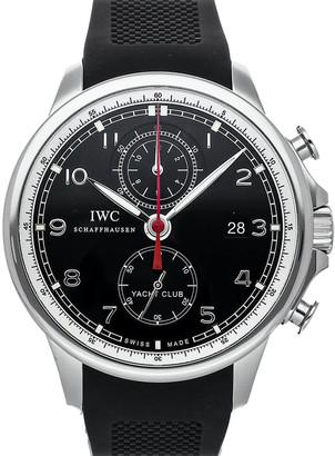 IWC Black Stainless Steel Big Pilot's Watch 7 Day IW5009-01 Men's Wristwatch 46 MM
