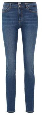 BOSS Slim-fit jeans in red-cast super-stretch denim
