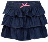 Joe Fresh Denim Ruffle Skirt (Toddler & Little Girls)