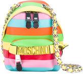 Moschino rainbow mini backpack