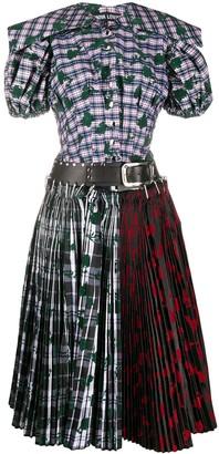 Chopova Lowena Contrast Panel Pleated Dress