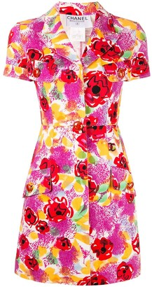 Chanel Pre-Owned floral short-sleeved shirt dress