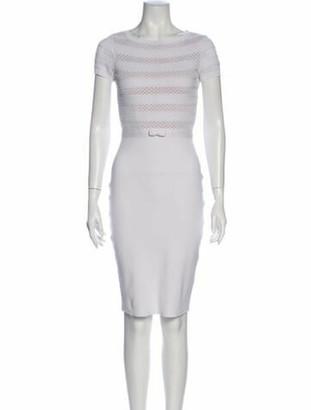 Valentino Bateau Neckline Knee-Length Dress White